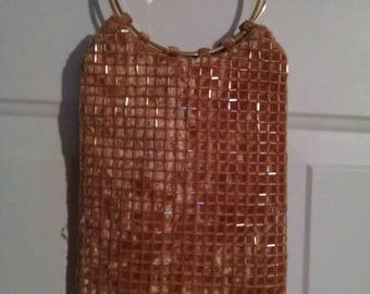 Vintage 1960's Beaded evening bag - Beige
