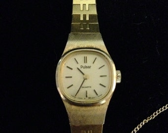 Ladies gold Pulsar watch