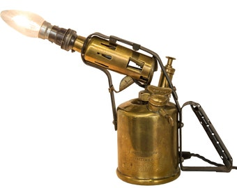 Blow torch table Lamp (large) (including bulb)
