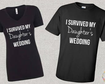 I Survived My Daughter's Wedding Shirt Set, His and Hers