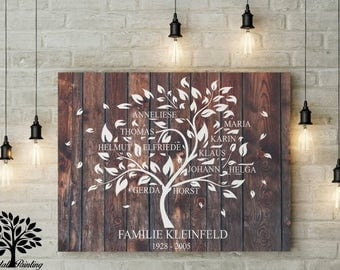 70 x 50, family tree, family tree, family, instead of wedding tree or wedding tree, guestbook, to the golden wedding, birthday