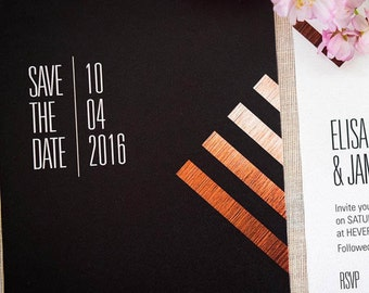 Save the Date Cards - Geometric design, personalised and customisable