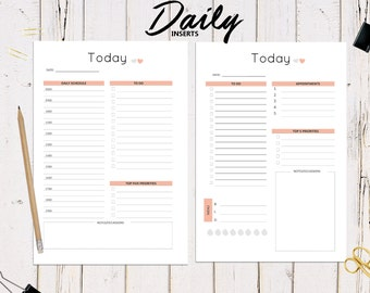A5 Printable Daily Planners, To Do List, Organizer, 2017 Planner