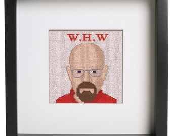 Breaking Bad Walter White Cross Stich Pattern For Breaking Bad And Cross Stitch Enthusiasts