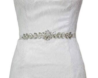 Bridal belt, bridal sash, bridesmaid belt, sash belt, rhinestone belt, crystal sash, wedding dress belt, gatsby wedding