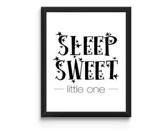 Baby Nursery Quote - Sleep Sweet Little One
