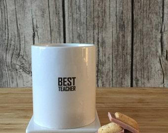 Best Teacher Mug, Best Teacher Gift, Custom Teacher Mug, Gift for Teacher, Teacher Appreciation Gift,Mug for Teacher, Mug Teacher