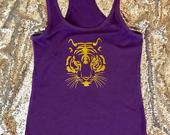 Tigers tank LSU purple and gold
