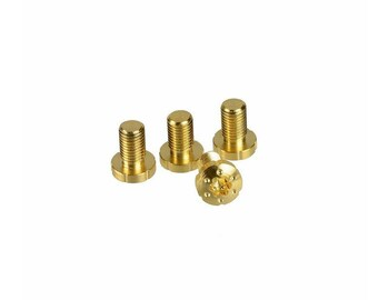 1911 grips screws gold coated. Tornillos para cachas 1911 chapeados de oro