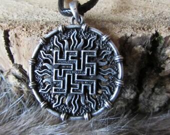 Fern Flower of Perun Slavic Pendant Necklace