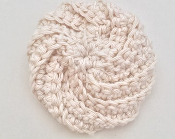 Tawashi Spiral Scrubbie, Crocheted Scrubbie, Facial puff, Spa Puff, Facial Scrubbie, Washcloth, Baby Wash Cloth, Baby Wash Pad, 100% Cotton