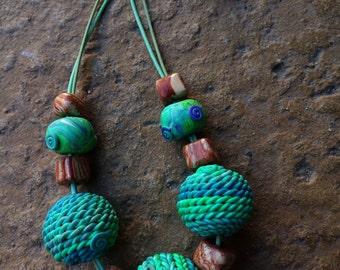 "Massive Nacklace ""Green  Apple"""