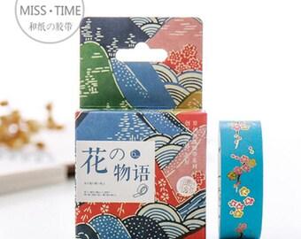 Washi Tape - Flower Washi Tape - Japanese Washi Tape - Decorative Washi Tape - Masking Tape - Deco Tape - Deco Masking Tape