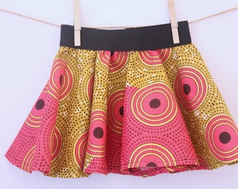 african print skirt with elastic band, african print skirt, girl's skirt, girl birthday gift, toddler skirt, african print, cute skirt, girl