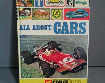 All About Cars Century 21 Publishing in Association with Corgi Toys Vintage Children's Book 1969