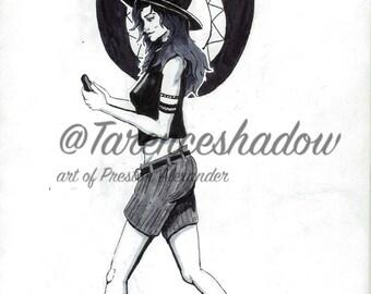 The walking girl by tarenceshadow