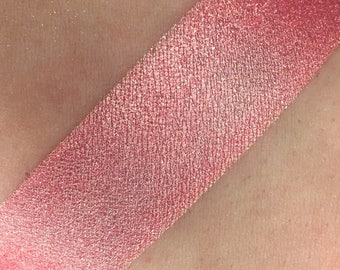 Tickle Me Pink - Hot Pink Loose Mineral Eye shadow 3g Jar Eyeshadow or Eyeliner Hot Pink Bright Pink Luster Low Sparkle Vegan Makeup