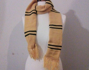 Handmade Harry Potter Hufflepuff Scarf - all house colours available