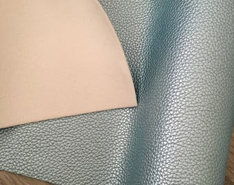 Pearl Ice Blue - A4 Faux Leather Sheet