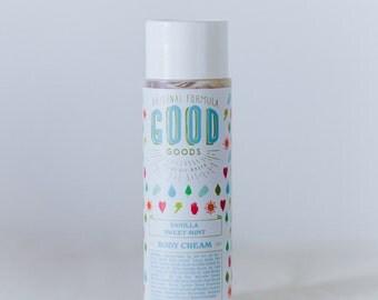 Vanilla Sweet Mint Body Cream (8oz)