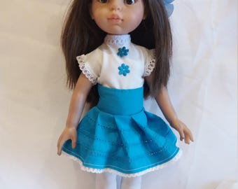Blouse with skirt for doll Paola Reina