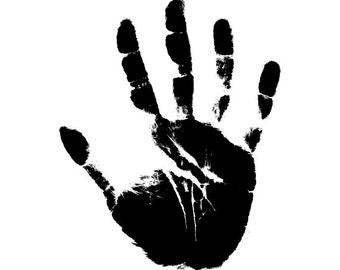 Hand print svg | Etsy