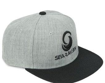 SeaRaven Cap, Snapback Cap, 3D embroidery cap, Mens Cap, Kitesurfing Cap, Kiteboarding Cap,