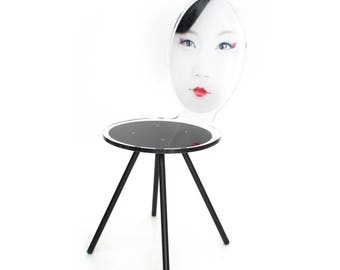 Acrylic Asian Geisha Style Chair Mme Yu