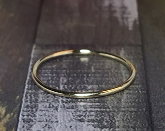 BIG SALE 10k Real gold thin rings - real gold Midi Rings - real gold Stacking rings - real gold Pinky Rings - real gold Thin bands - Silky