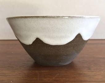Bowl with White Scalloped Glaze