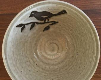 SOLD  Handmade Bowl with Bird Design