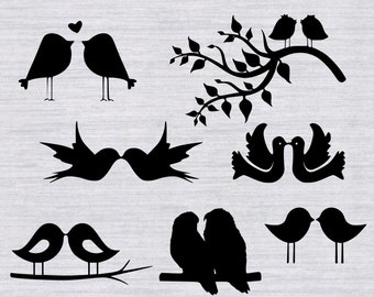 Lovebirds SVG bundle, lovebirds clipart, Love Birds svg, wedding svg, anniversary svg, svg files for silhouette cameo, cricut, cut files,dxf