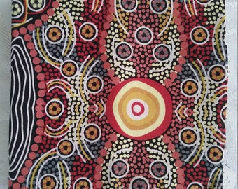 One Fat Quarter//100% Cotton//Quilting Fabric//Aboriginal Fabric