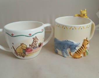 2 Disney Classic Pooh Charpente Pooh Mugs Peek a Boo Pooh