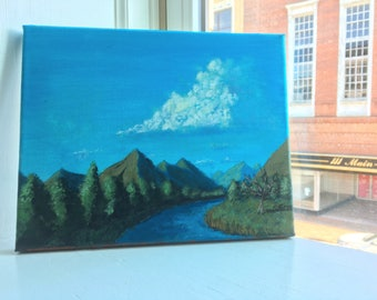 8x10 Mountain Landscape Painting