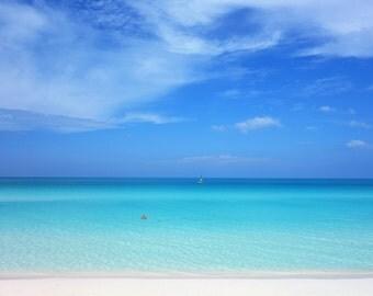 Paradise Beach Photo / Digital Cuban Beach Photograph / Digital Photograph / Printable Beach Photo / Summer Wall Art / JPG Download Foto