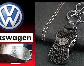 VW Key Ring Titamium keychain gift for Him/Her/Husband/Wife with Gift Pouch [Titanium]