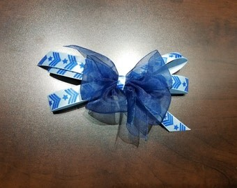 Medium Sheer blue/star Bow