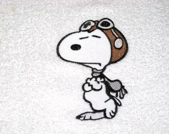 Snoopy Embroidered Hand Towel