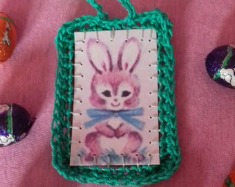 Card with crochet edge Easter