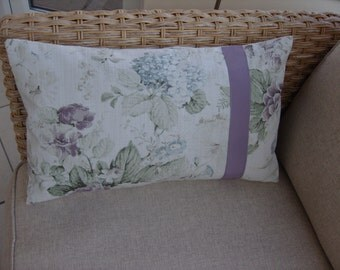 "Cushion Cover Rectangular-Lumbar 20"" by 12"" 'Constance' by Porter & Stone Floral"