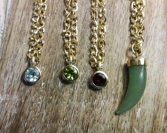 Gemstone Pendant Gold Choker Necklace, Gold Choker, Neck Band Choker, Wife Jewelry Ideas, Boho Jewelry Wife, Jade, Topaz, Garnet, Peridot