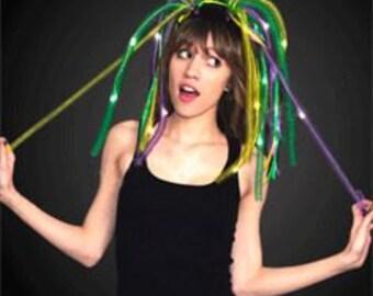 Mardi Gras Blinky Hair Noodles