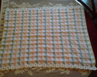 Pink & Blue Striped Baby Blanket