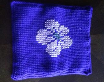 Flowered pillowcase