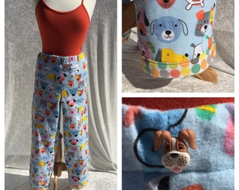 Flannel Pajamas for Dog Lovers