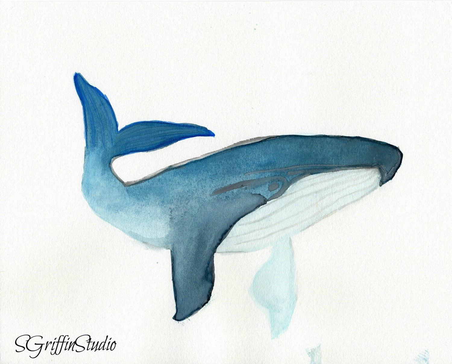 Uncategorized Blue Whale Pictures To Print giclee print blue whale watercolor painting 8x10