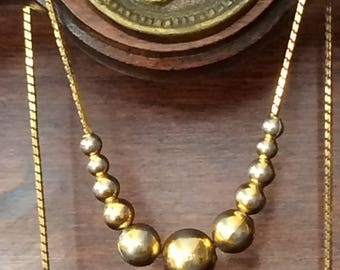 Napier Goldtone Chain with Gold Beads
