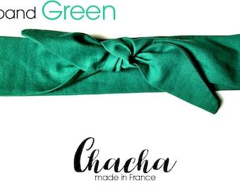 """Headband, headband, turban retro """"GREEN"""""""