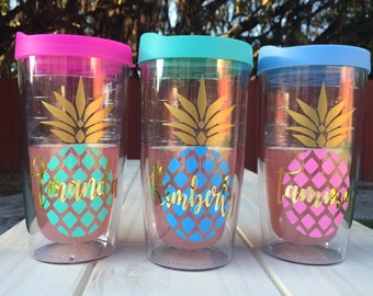 Personalized Bridesmaids Pineapple Tumbler| Bridesmaid Gift | Mothers Day Gift